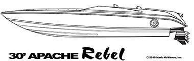 30' Apache Rebel - Apache Powerboats