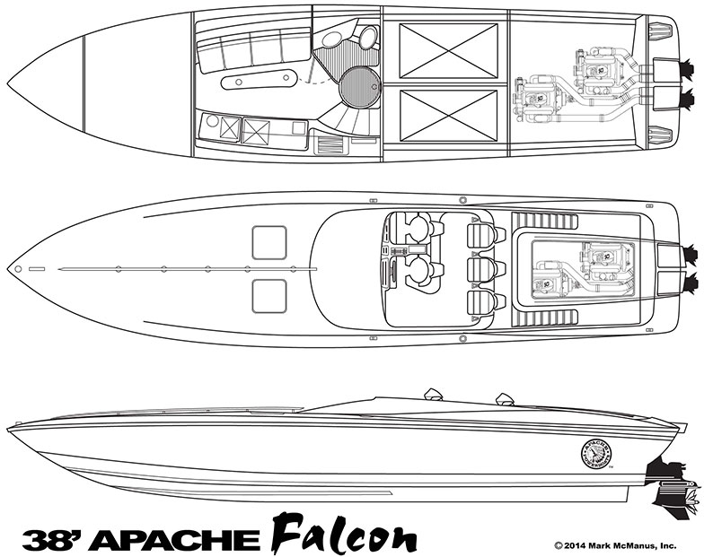 38' Falcon - Apache Powerboats
