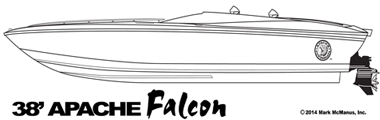38' Apache Falcon - Apache Powerboats