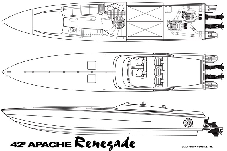 42′ Renegade - Models of Apache Powerboats built by Mark McManus - Apache Powerboats