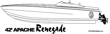 42' Renegade  - Apache Powerboats