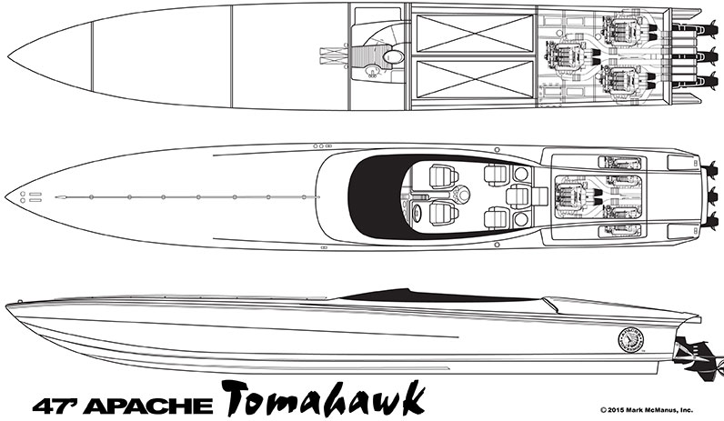 47' Tomahawk - Apache Powerboats