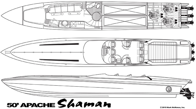 50′ Shaman - Apache Powerboats