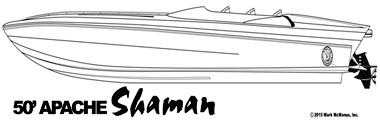50' Apache Shaman - Apache Powerboats