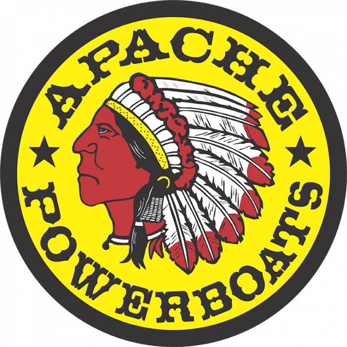 Apache Powerboats Decal - Registered Trademark - Left