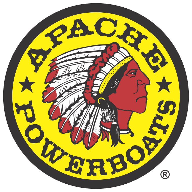 Apache Powerboats Decal - Registered Trademark - Right