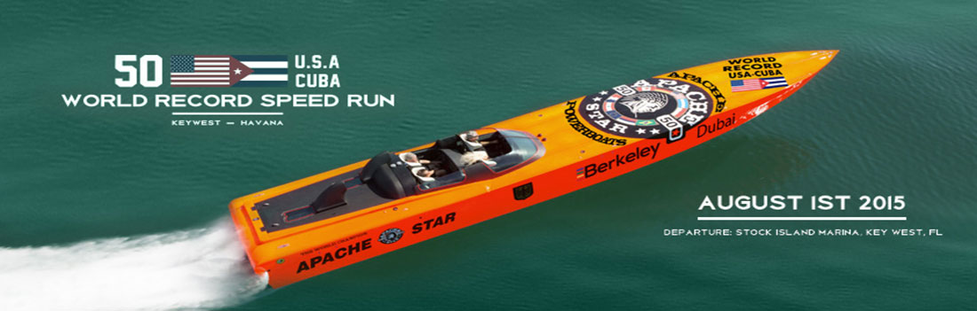 """Apache Star"" - World Record Speed Run - USA to Cuba - 110 miles in 90 minutes!"