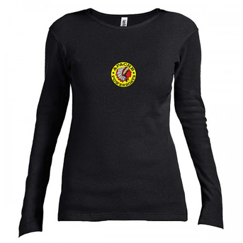 Women's Long Sleeve T-Shirt - Fitted - Front - Black