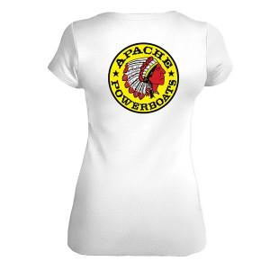 Women's Short Sleeve T-Shirt - Fitted - Back - White
