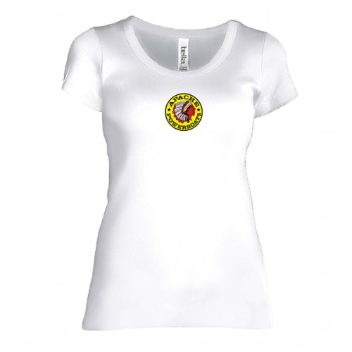 Women's Short Sleeve T-Shirt - Fitted - Front - White