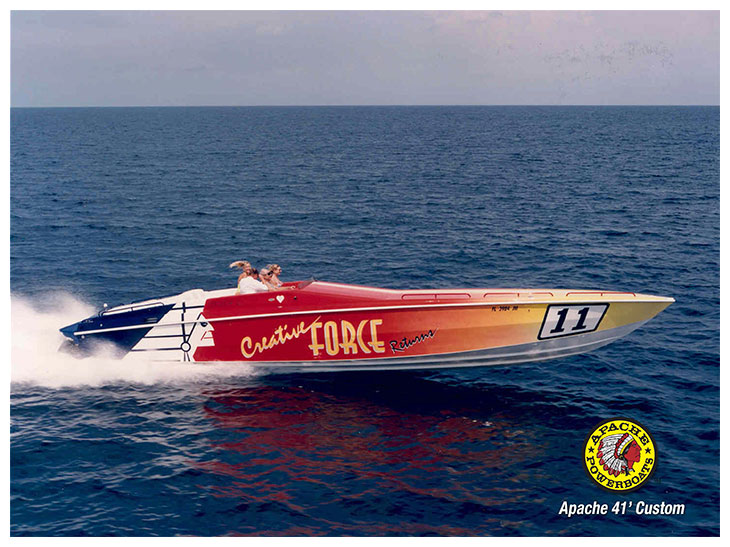 Creative Force 41' - Apache Powerboats