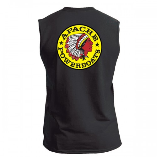 Apache Sleeveless T-Shirt - Back - Black