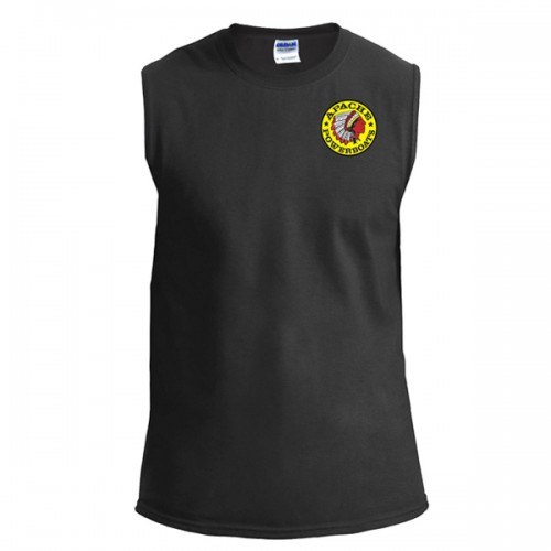 Apache Sleeveless T-Shirt - Front - Black