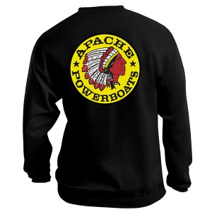 Apache Sweatshirt - Back - Black