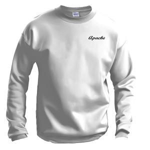 Apache Sweatshirt - Front - White - Apache Logo in Black