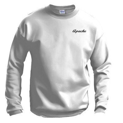 Apache Sweatshirt - Front - White - Apache Logo in Black