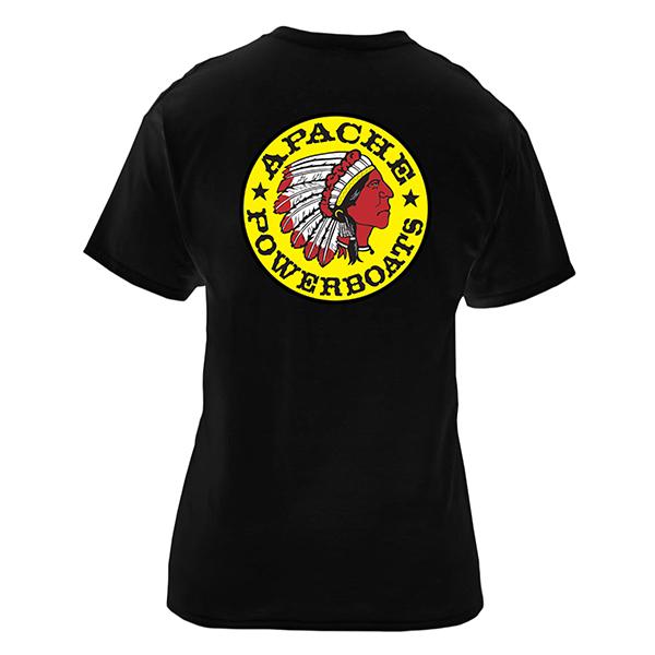 Apache Short Sleeve T-Shirt - Back - Black