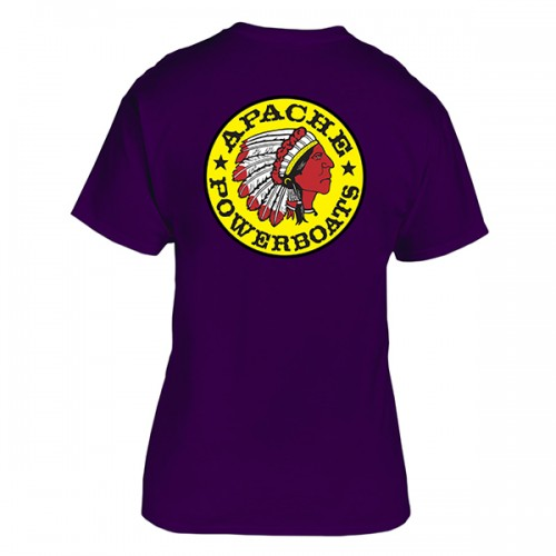 Apache Short Sleeve T-Shirt - Back - Purple