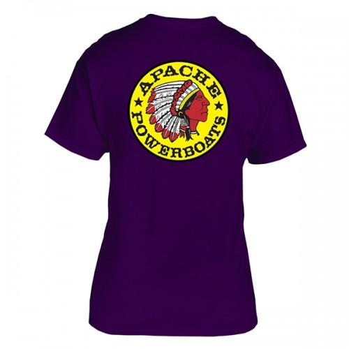 Apache Short Sleeve T-Shirt - Back - Purple