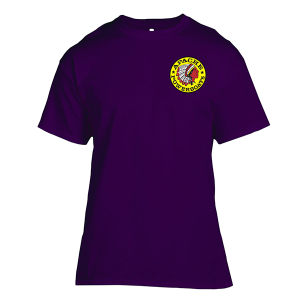 Apache Short Sleeve T-Shirt - Front - Purple
