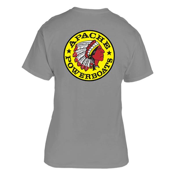 Apache Short Sleeve T-Shirt - Back - Grey