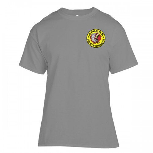 Apache Short Sleeve T-Shirt - Front - Grey