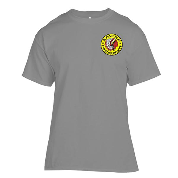 Apache Short Sleeve T-Shirt - Front - Grey