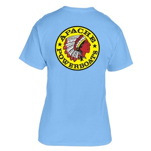 Apache Short Sleeve T-Shirt - Back - Light Blue