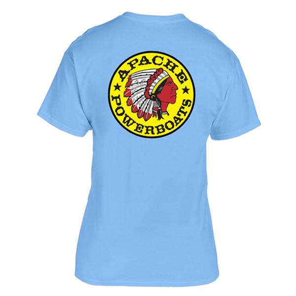 Apache Short Sleeve T-Shirt - Back - Light Blue