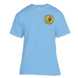 Apache Short Sleeve T-Shirt - Front - Light Blue