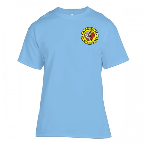 Apache Short Sleeve T-Shirt - Front - Light Blue