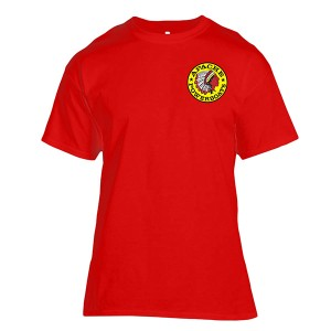 Apache Short Sleeve T-Shirt - Front - Red