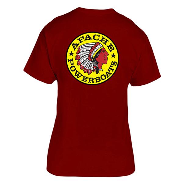 Apache Short Sleeve T-Shirt - Back - Maroon