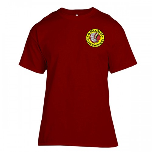 Apache Short Sleeve T-Shirt - Front - Maroon