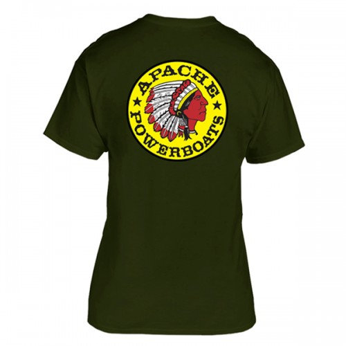 Apache Short Sleeve T-Shirt - Back - Military Green