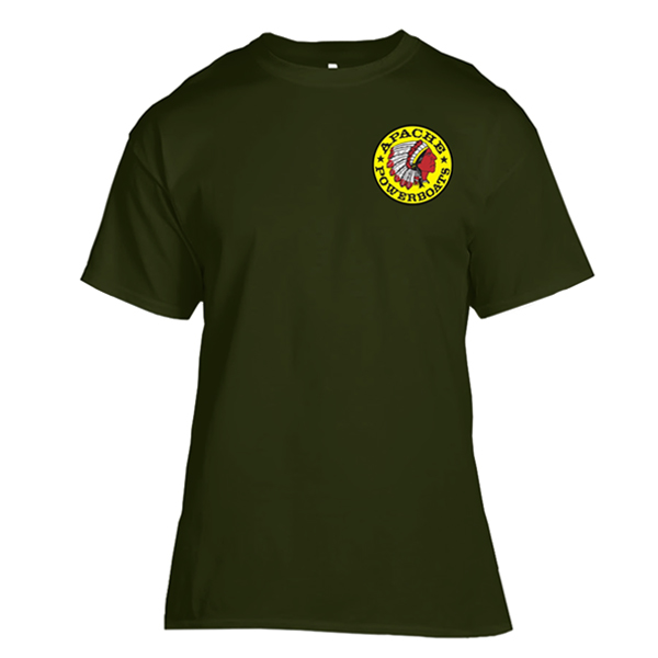 Apache Short Sleeve T-Shirt - Front - Military Green