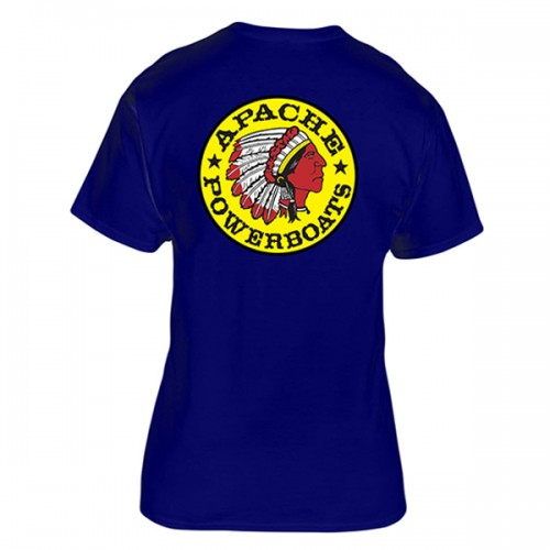 Apache Short Sleeve T-Shirt - Back - Navy Blue