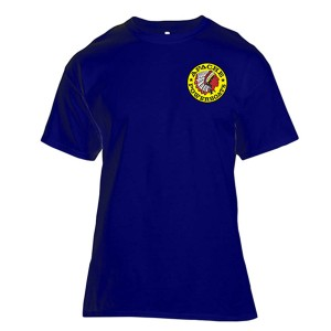 Apache Short Sleeve T-Shirt - Front - Navy Blue