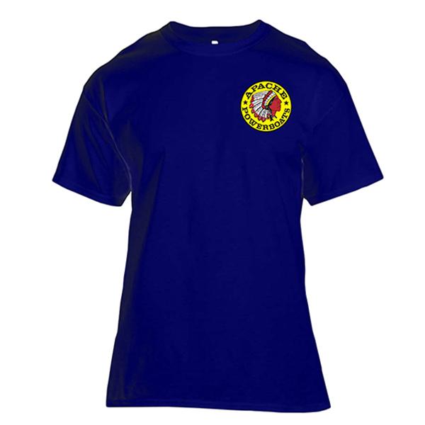 Apache Short Sleeve T-Shirt - Front - Navy Blue