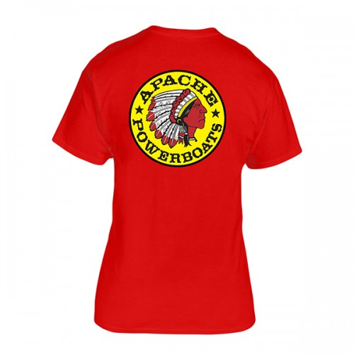 Apache Short Sleeve T-Shirt - Back - Red