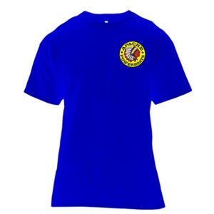 Apache Short Sleeve T-Shirt - Front - Royal Blue