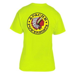 Apache Short Sleeve T-Shirt - Back - Safety Green