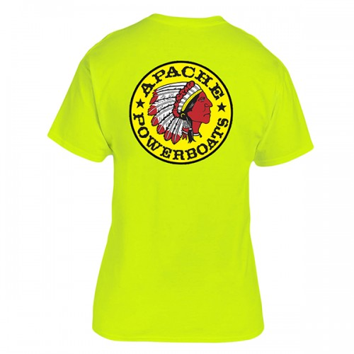 Apache Short Sleeve T-Shirt - Back - Safety Green