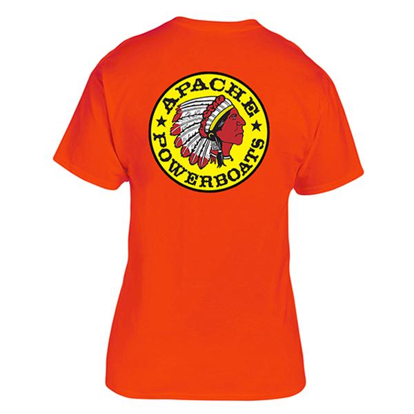 Apache Short Sleeve T-Shirt - Back - Safety Orange