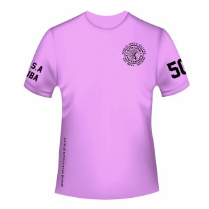 Women's World Speed Record T-Shirt - Short Sleeve - Safety Pink - Front