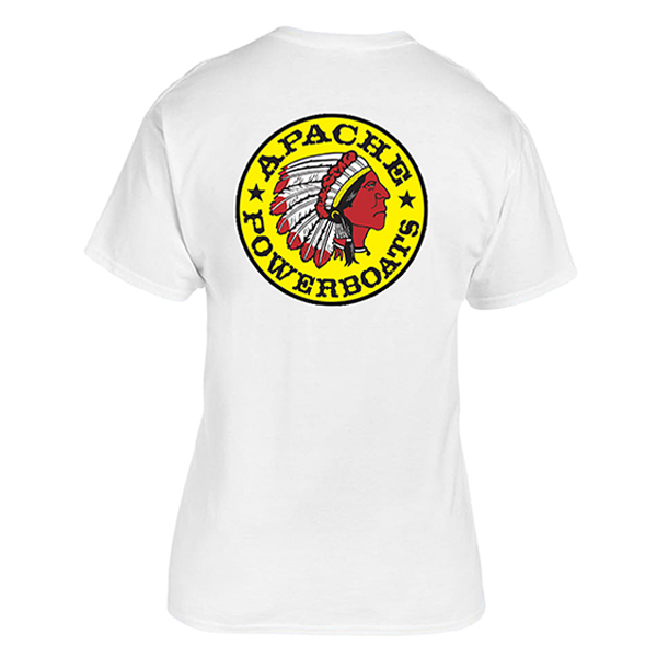 Apache Short Sleeve T-Shirt - Back - White