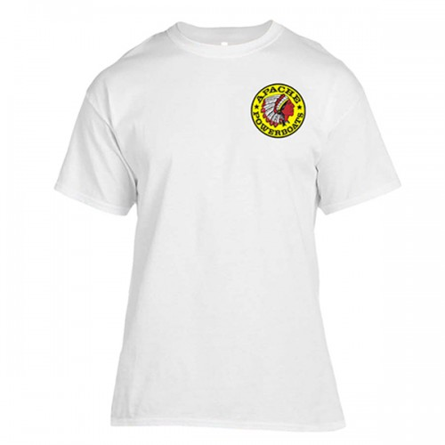 Apache Short Sleeve T-Shirt - Front - White