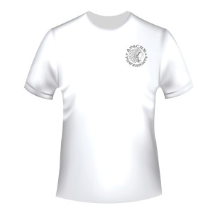 Apache Short Sleeve T-Shirt - White with Grey APB - Front