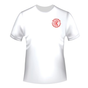 Apache Short Sleeve T-Shirt - White with Red APB - Front