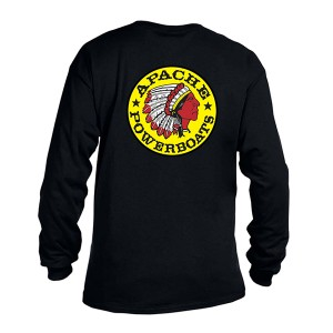Apache Long Sleeves T-Shirt - Black - Back